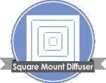 Square Mount Diffuser دریچه های هوا
