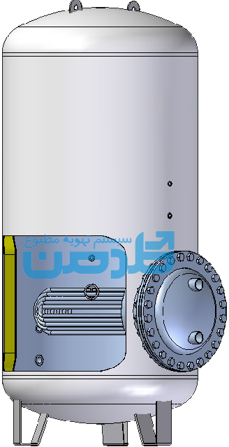 Storage tank with exchanger hot water goldman محاسبه مخزن ذخیره کویل دار آب گرم